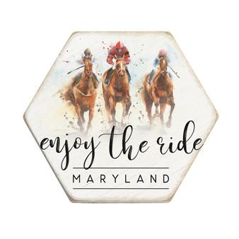 Enjoy The Ride Racehorses PER - Honeycomb Coasters