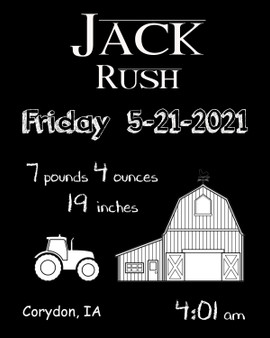 Jack Rush Distressed Design  A Box