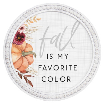 Fall Favorite Color - Beaded Round Wall Art