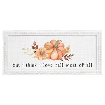 I Love Fall Most - Beaded Art Rectangle