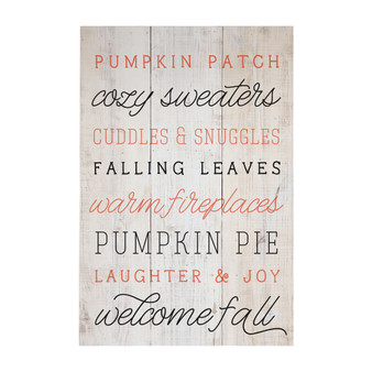 Welcome Fall - Rustic Pallet