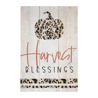 Harvest Blessings Leopard - Rustic Pallet