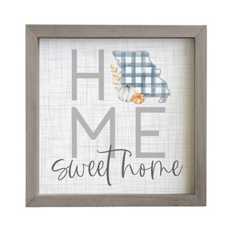 Home Sweet Gingham STATE - Rustic Frame