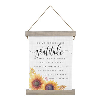 Express Our Gratitude - Hanging Canvas
