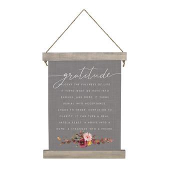 Gratitude Unlocks - Hanging Canvas