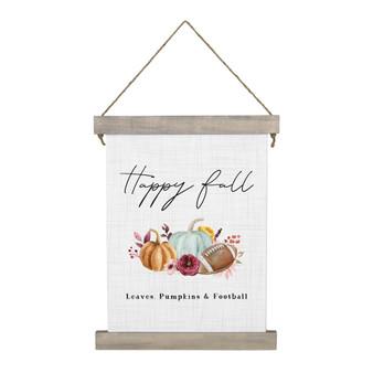 Pumpkins Football - Hanging Canvas