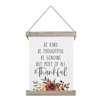 Be Kind Thankful - Hanging Canvas