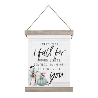 Every Year I Fall - Hanging Canvas