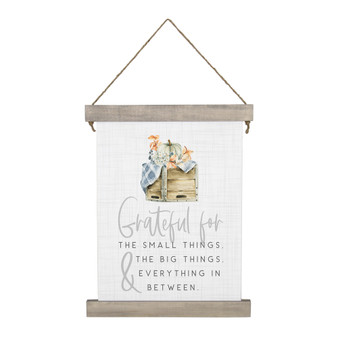 Grateful For Crate - Hanging Canvas
