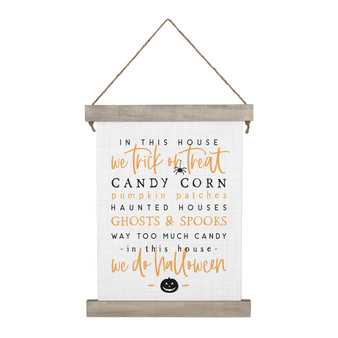 In This House Halloween - Hanging Canvas
