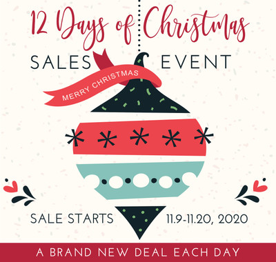 GET READY FOR OUR 12 DAYS OF CHRISTMAS SALES EVENT