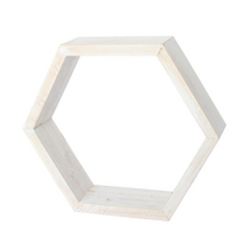 "Honeycomb Shelf 12: x 12"" x 3.25"" White Wash"