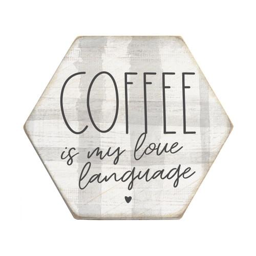 Coffee Is Language PER - Honeycomb Coasters