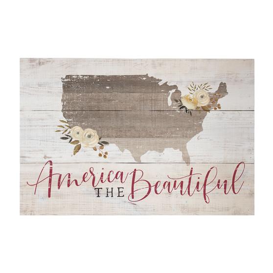 America Beautiful - Rustic Pallet