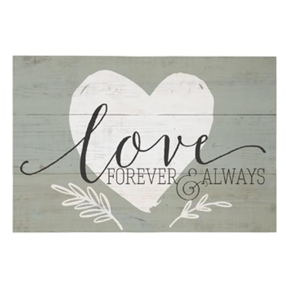 Love Forever & Always - Rustic Pallet