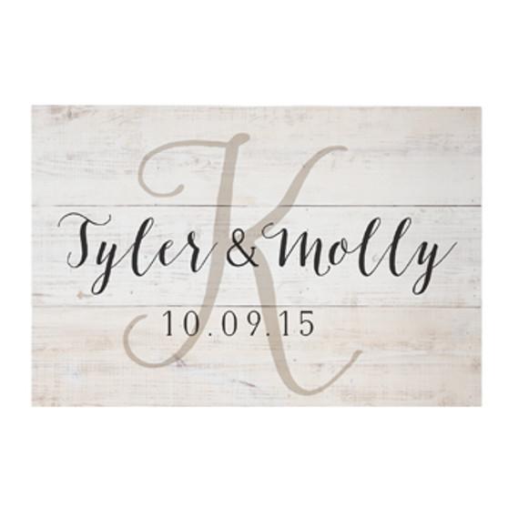 Names & Date - Rustic Pallet