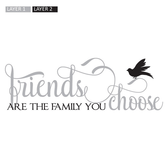 Friends are the Family - Rectangle Design