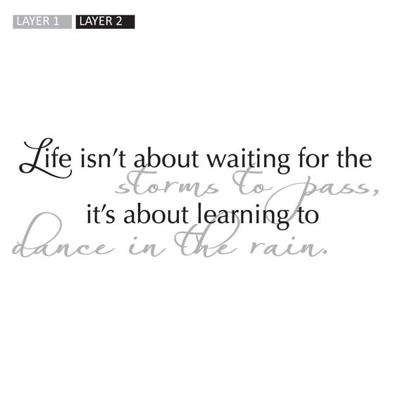 Dance In The Rain - Rectangle Design