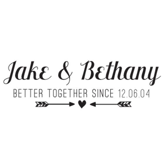 Better Together Since PER - Rectangle Design