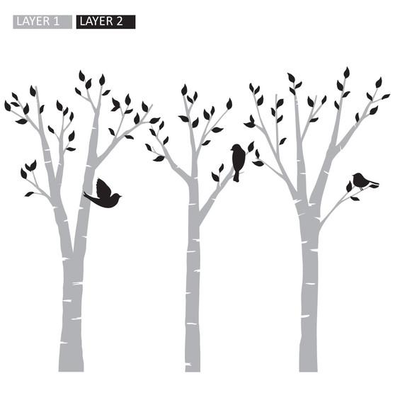 Birds in Trees - Wall Design