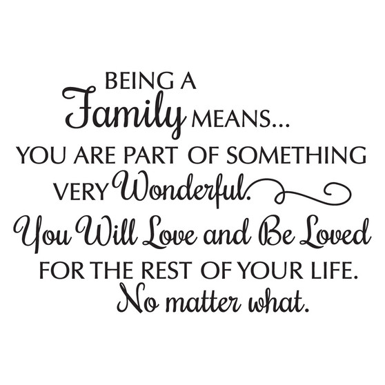 Being a Family Means... - Wall Design