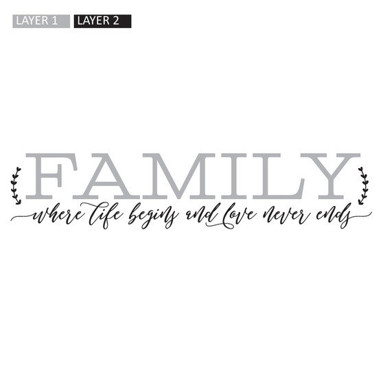 Family, Where Life Begins - Wall Design