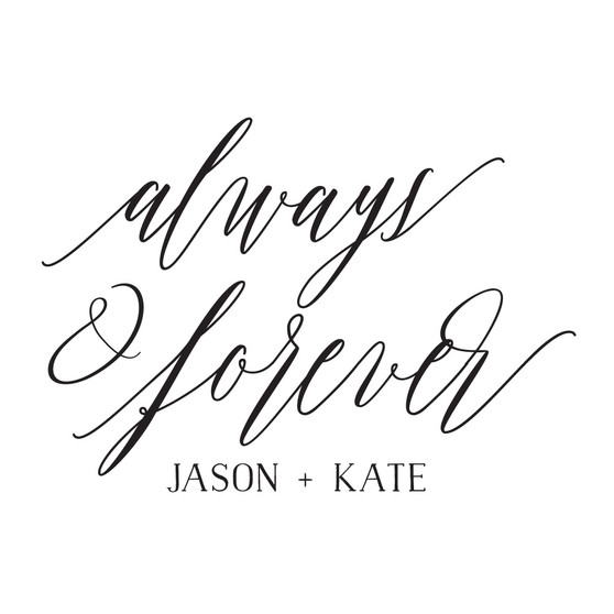 Always & Forever Names - Large Designs