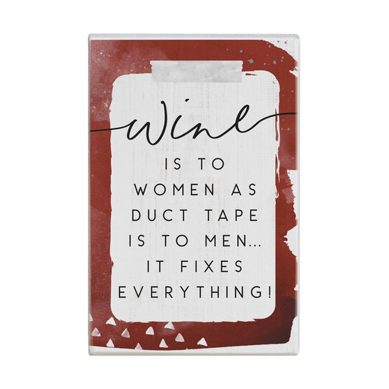 Wine Duct Tape - Small Talk Rectangle