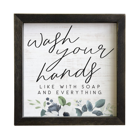 Wash Your Hands - Rustic Frames