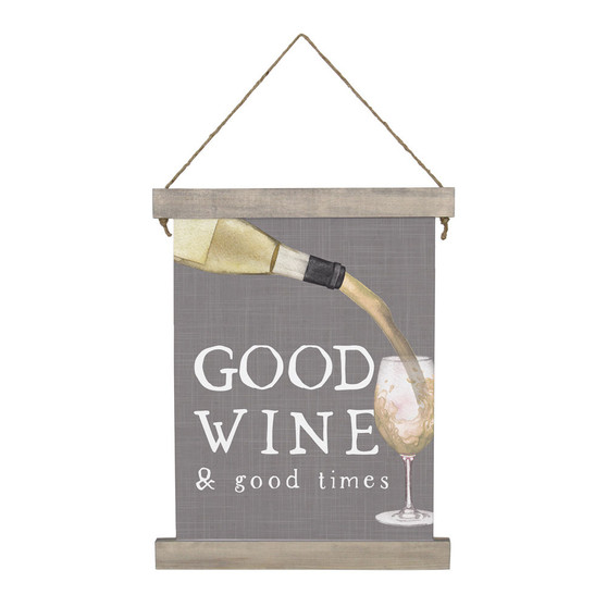 Good Wine  - Hanging Canvas Personalize with Red or White