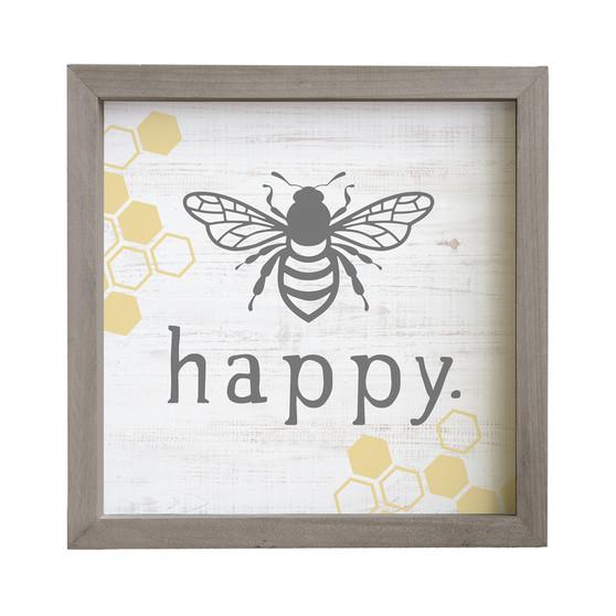 Bee Happy - Rustic Frame