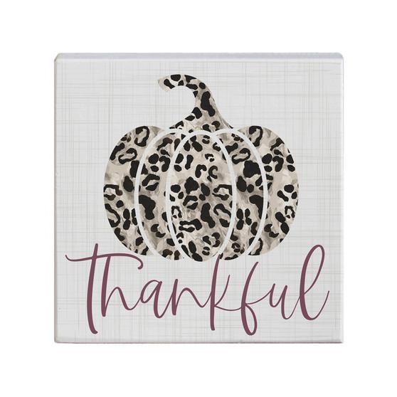 Thankful Leopard Pumpkin - Small Talk Square
