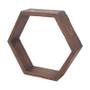 "Honeycomb ShelfŠ—¢ 12: x 12"" x 3.25""Š—¢ Stained Wood"