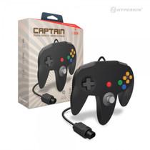 Captain Premium Controller for N64 - Black