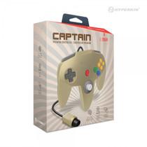 Captain Premium Controller for N64 - Gold