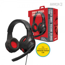 SoundTac Universal Gaming Headset for Switch / PS5 / Xbox Series / PC - Red