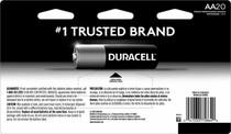 Duracell Alkaline AA Batteries - 20 Pack