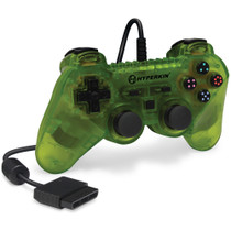 Brave Warrior Premium Controller for PS2 - Clear  Yellow