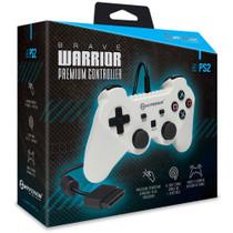 Brave Warrior Premium Controller for PS2 - White