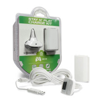Xbox 360 Charge Kit Battery & Charge Cable - White
