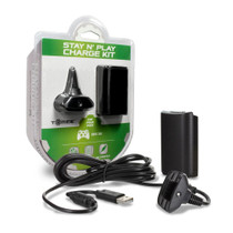 Xbox 360 Charge Kit Battery & Charge Cable - Black