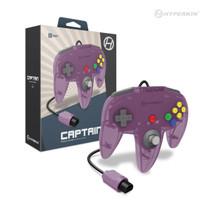 Captain Premium Controller for N64 - Amethyst Purple