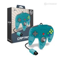 Captain Premium Controller for N64 - Turquoise