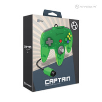 Captain Premium Controller for N64 - Lime Green