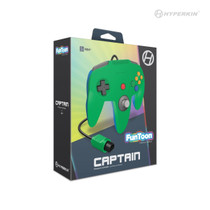 Captain Premium Controller for N64 - Hero Green