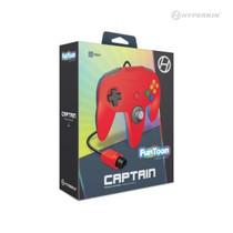 Captain Premium Controller for N64 - Hero Red