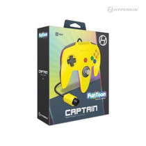 Captain Premium Controller for N64 - Rival Yellow