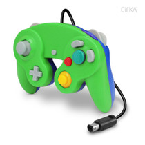 Wired Controller for Wii / GameCube - Green / Blue