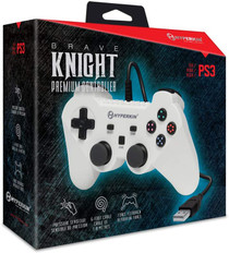 """""""Brave Knight"""" Premium Wired Controller For PS3 / PC / Mac - White"""