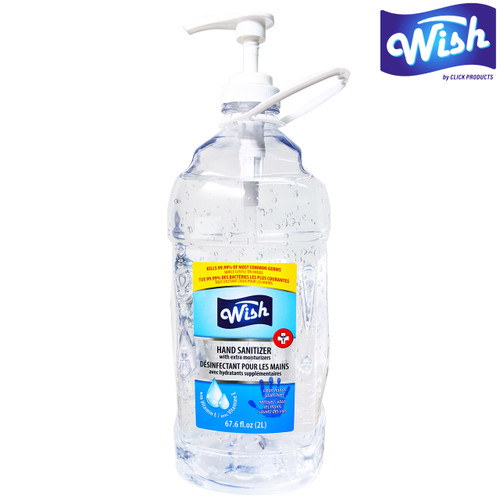 Wish Hand Sanitizer Vitamin E with Pump and Carry Handle - 2L